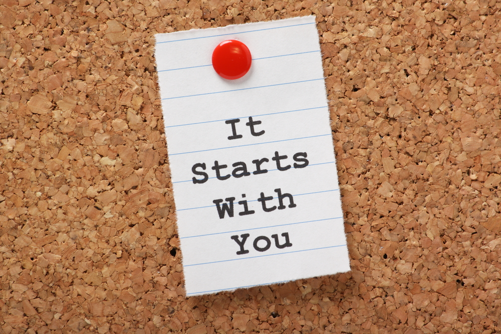 Its start with you sign on a pinboard