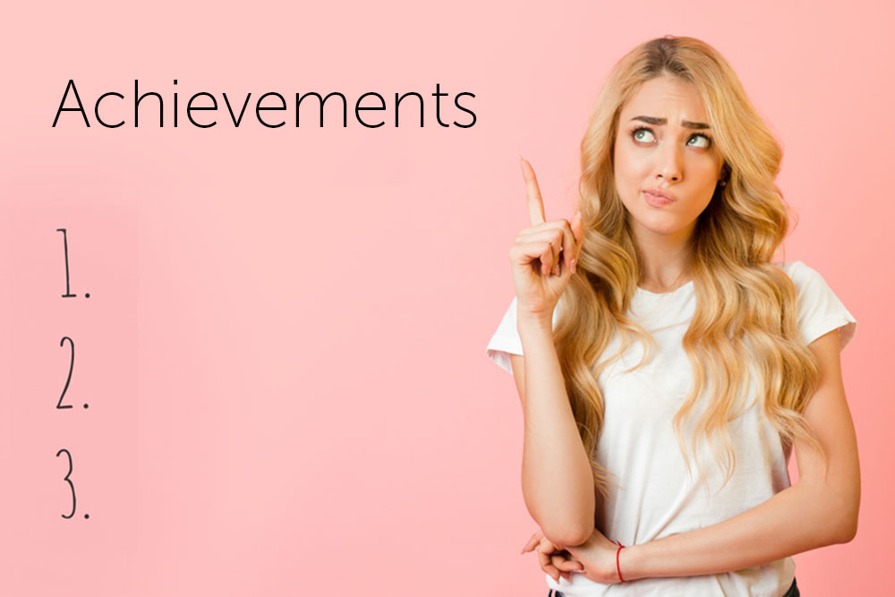 Female teenager thinking about her achievements