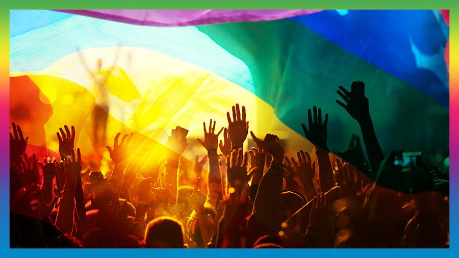 LGBT festival goers